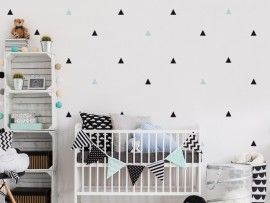 sticker autocollant pack deco triangles