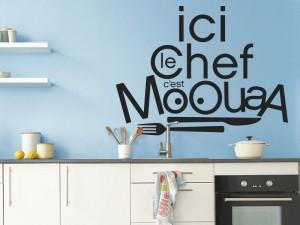 Sticker Le Chef c'est Mooua!