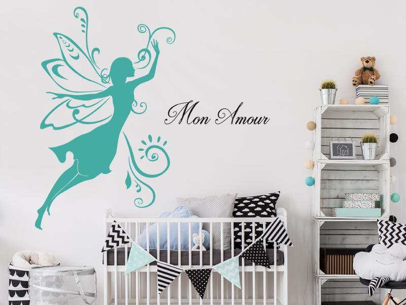 bébé Mural pour chambre enfant sticker autocollant princesses-sdb2