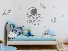 sticker autocollant astronaute espace