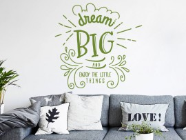 sticker autocollant dream big citation