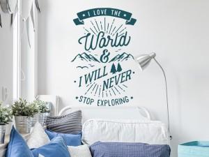 Sticker Citation Explore the World