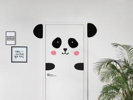 sticker autocollant panda a la Porte enfant