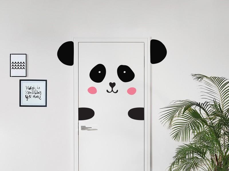 [Jeu] Association d'images - Page 17 Sticker-panda-a-la-porte