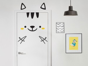 Sticker Chat à la Porte