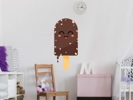 sticker autocollant glace chocolat
