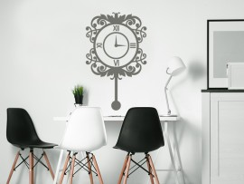 sticker autocollant horloge murale baroque