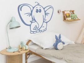 sticker autocollant elephant enfant