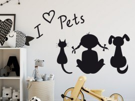 Sticker I love Pets