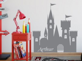 sticker autocollant chateau fort