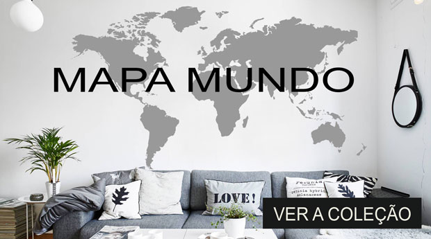 autocolante mapa mundo